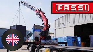 Fassi truck crane F820RA: 6-legged, 360° lifting