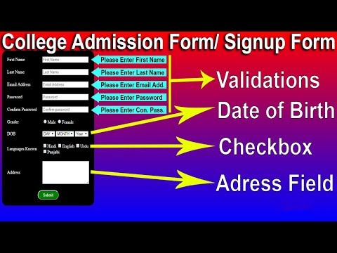 8. HTML Form Validations, Select Box In HTML, Text Area In HTML, Checkbox In HTML By Cyber Warriors