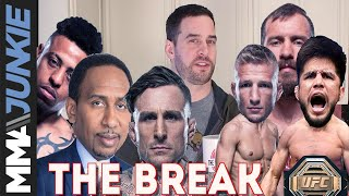 The Break: ESPN's mixed bag, what T.J. Dillashaw meant to say, Greg Hardy's odd choice of words