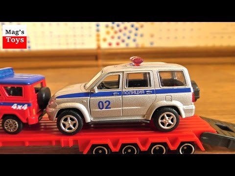Car Trailer for Children Transporting Small Toy Cars | Video for kids