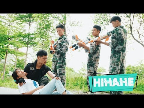 Hihahe Nerf War: Couple SWAT & Warrior Girl Nerf Guns Robber Group Buy Sell Weapons