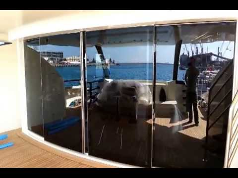 Sliding Glass Door For Karides Yacht Youtube