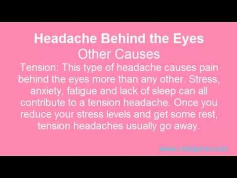 how to get rid of headache behind right eye