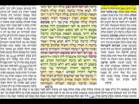 הדף היומי מסכת תמורה דף כו Daf yomi Temurah page 26