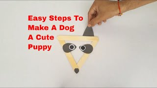 How To Make Paper Dog - Easy Craft For Kids And Toddlers (Tutorial)