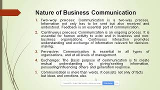 Business Communication: Meaning, Definition, Nature, & Importance of Business Communication