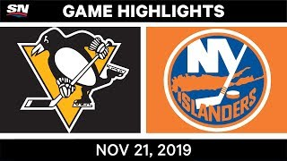 NHL Highlights   Penguins vs. Islanders – Nov. 21, 2019