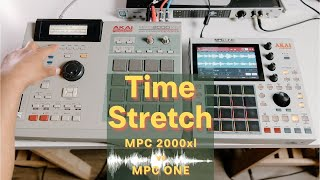 MPC ONE timestretch   MPC ONE vs MPC 2000xl
