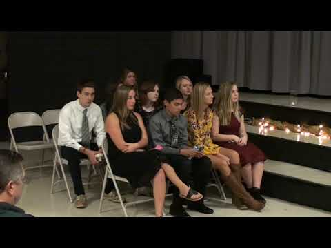 North Stokes High School National BETA Club Induction Ceremony 2018