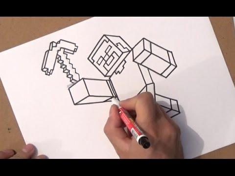 Come Disegnare Minecraft Come Disegnare Minecraft Passo Dopo