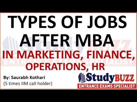 Types of jobs after MBA in Marketing, Finance, HR, Operations- Highest paying jobs