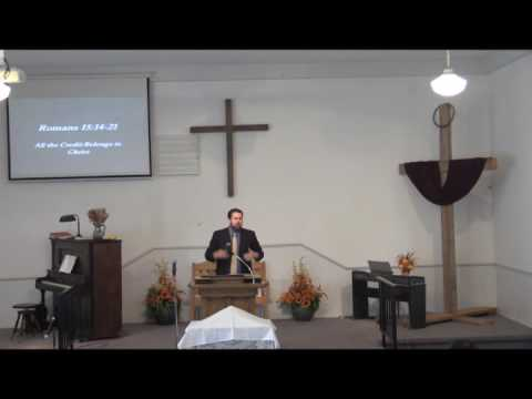 """Pastor Kevin Weston preaches from Romans 15:14-21, """"All the Credit Belongs to Christ."""""""