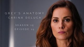 Stefania in Grey's Anatomy S15E15 as 'Carina DeLuca'