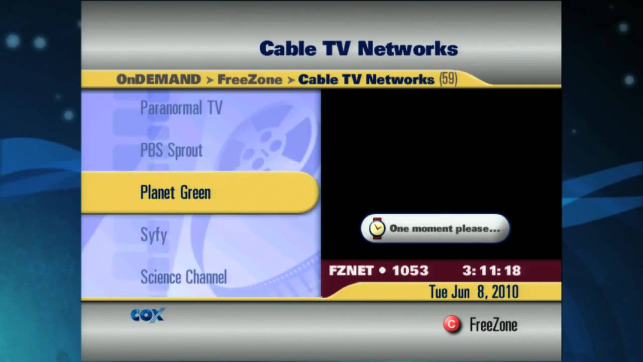 freezone on demand cox advanced tv youtube. Black Bedroom Furniture Sets. Home Design Ideas