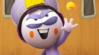 Funny Animated Cartoon   Spookiz Epic Ping Pong Match 스푸키즈   Cartoon for Children