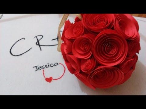 DIY - Làm quả cầu hoa hồng bằng giấy trang trí đám cưới