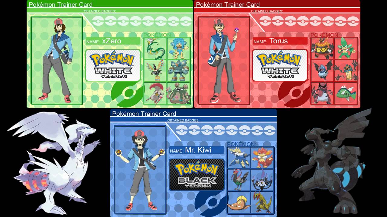 legends challenge pokemon black and white teams youtube