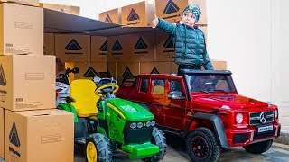 Tema build BOX FORT GARAGE Pretend Play with toys and cars