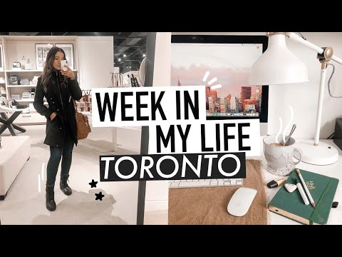 week in my life TORONTO | being self employed & books i've been reading