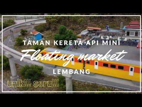 Unik - Kereta api mini floating market  Lembang Bandung