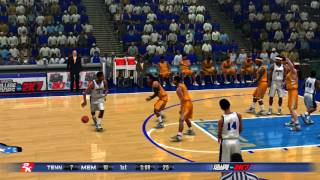 2K Sports College Hoops NCAA 2K7 Tennessee Volunteers vs Memphis Tigers Retro Game