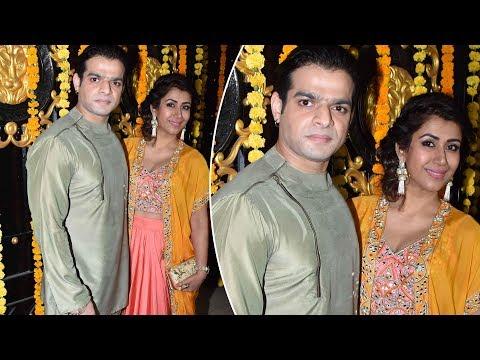 Karan Patel अपनी पत्नी Ankita Karan Patel के साथ पहुँचे Ekta Kapoor की Diwali पार्टी पर
