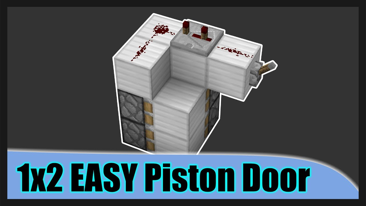 Minecraft 1x2 Redstone Secret Door 2018 Easy To Follow Video Youtube