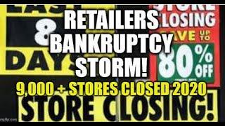 RETAIL BANKRUPTCY STORM, PERMANENT JOB LOSSES, FALSE ECONOMIC RECOVERY NARRATIVE, PREPARE FOR DROP