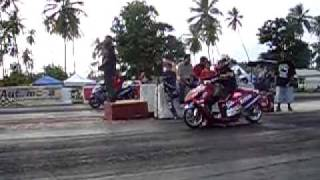 PUERTO RICO TEAM MRP PARTS ON DRAG RACING SCOOTER