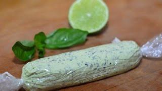 Составное масло с базиликом, луком и лаймом