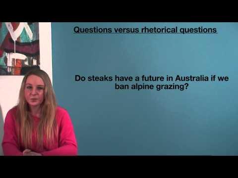VCE English - Questions vs. rhetorical questions (Language Analysis)