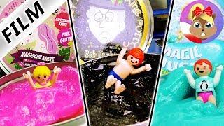 Playmobil Film polski | Jednorożcowy basen Hani, kąpiel z Elzą u Emmy i pechowy basen Juliana