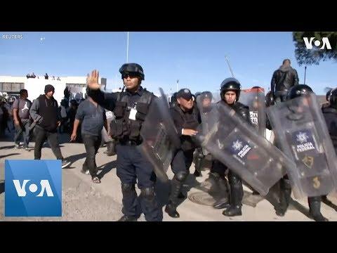 Riot Police At Mexican Border