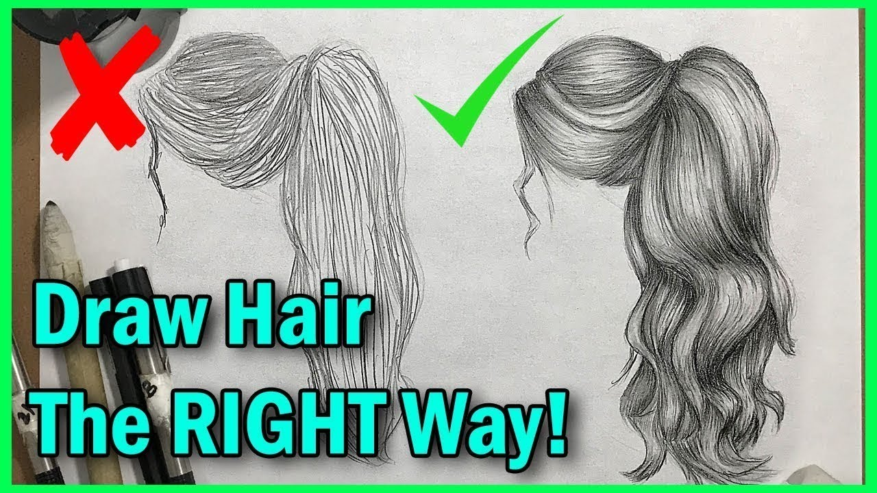 How To Draw Hair The RIGHT Way! - YouTube