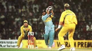 MUST WATCH SACHIN TENDULKAR AND TONY GREIG DEADLY PARTNERSHIP VS AUSTRALIA IN SARJAH