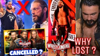 Roman Reigns Universal Championship Match Cancelled Why Drew Lost WWE WrestleMania 37 Full Results