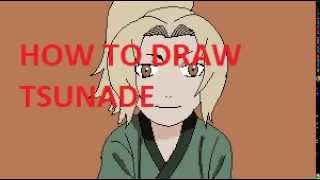 How to draw young Tsunade