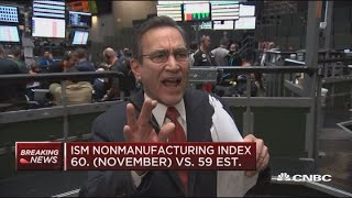 CNBC's Rick Santelli brings end of October numbers for the ISM manu...