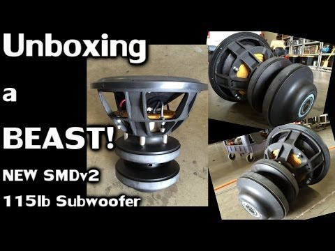 """Unboxing the BEASTLY 115lb 5000 Watt RMS  SMD v2 15"""" Subwoofer (Coming Soon!)"""
