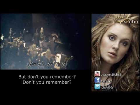 Adele - Don't You Remember مترجمة