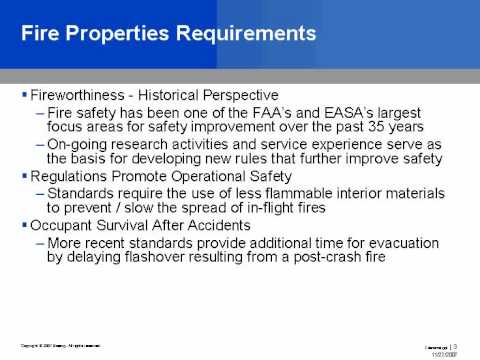 Flammability Requirements for Commercial Airplanes - SpecialChem Learning on Demand