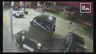 Woman chases after thief who stole her car parked outside Atlanta gas station