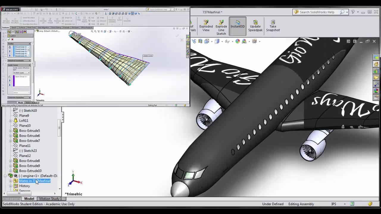 Boeing 737 Max CAD