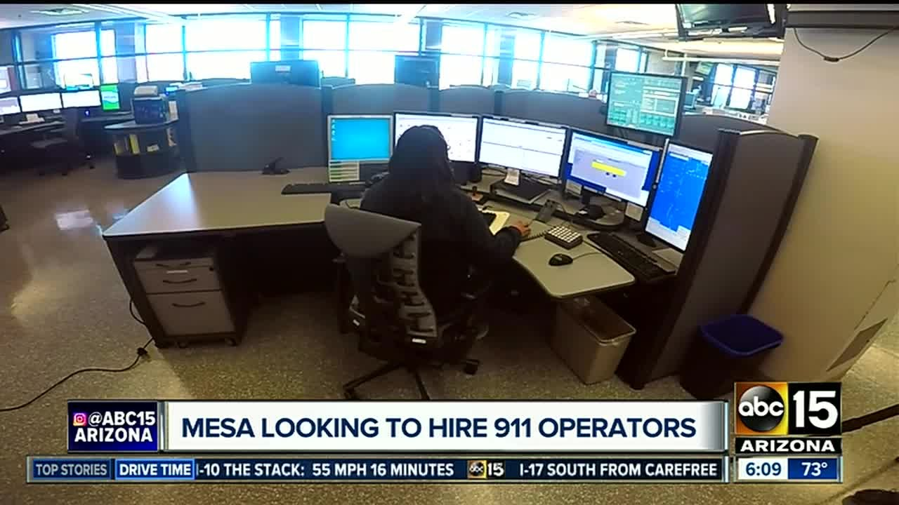 Mesa looking to hire 911 operators youtube mesa looking to hire 911 operators thecheapjerseys Image collections