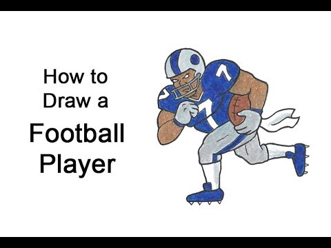 How To Draw A Football Player Youtube