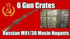 6 Gun Crates of Russian m91/30 Mosin Nagants