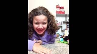 Miranda sings doing the Charlie Charlie pencil challenge