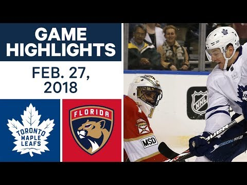 NHL Game Highlights | Maple Leafs vs. Panthers - Feb. 27, 2018