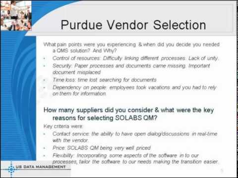 A QMS Success Story Purdue Pharma - SOLABS - Part 1