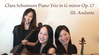Clara Schumann Piano Trio in G minor Op. 17 - III. Andante